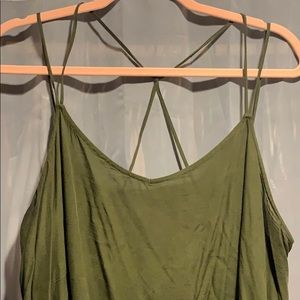 Green Loose Tank Top